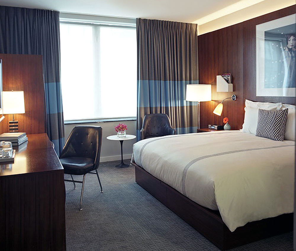 Interiors For A 100 Room Hotel On Columbus Circle Thompson Group Hotels