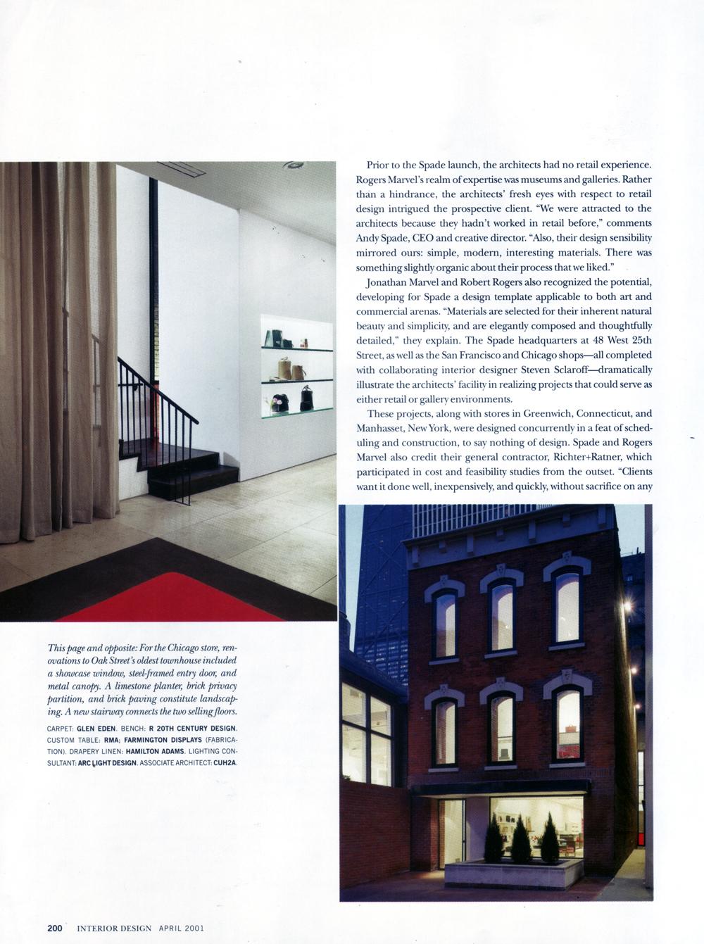 steven sclaroff | interior design magazine: kate spade stores